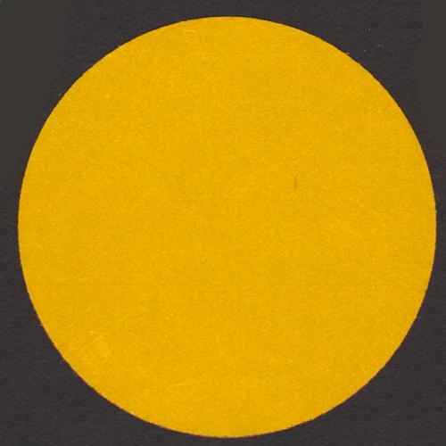 Blank yellow reflective circle stickers