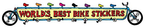 Worlds Best Bike Stickers